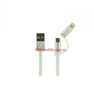 USB Cable LDNIO LC81 iPhone 6/MicroUSB Silver 1m