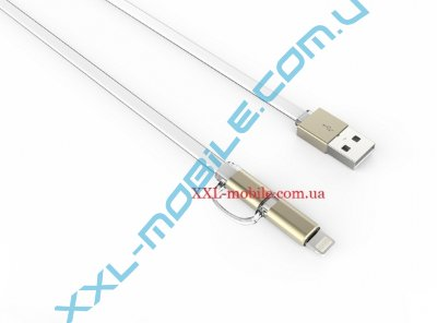 USB Cable LDNIO LC84 iPhone 6/MicroUSB White 1m