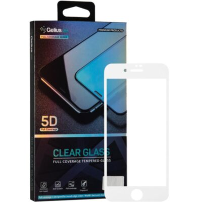 Защитное стекло Gelius Pro 5D Clear Glass for iPhone 7/8 White