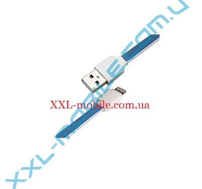 USB Cable LDNIO XS-07 iPhone 5/6 Blue 1m