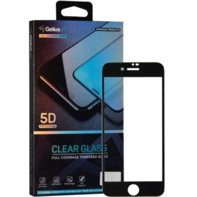 Защитное стекло Gelius Pro 5D Clear Glass for iPhone 7/8 Black