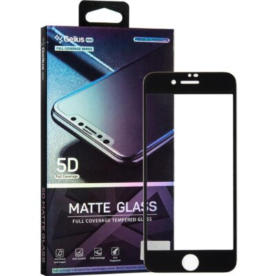 Защитное стекло Gelius Pro 5D Matte Glass for iPhone 7/8 Black