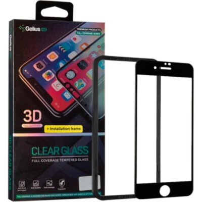 Защитное стекло Gelius Pro 3D + Installation frame for iPhone 7/8 Black