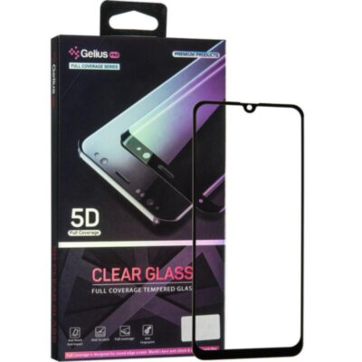Защитное стекло Gelius Pro 5D Clear Glass for Samsung A507 (A50s) Black